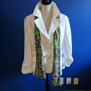 Talbots linen versatile jacket Attn details